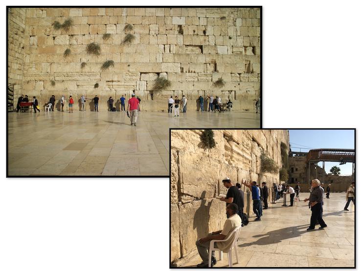 Menschen vor der Klagemauer in Jerusalem