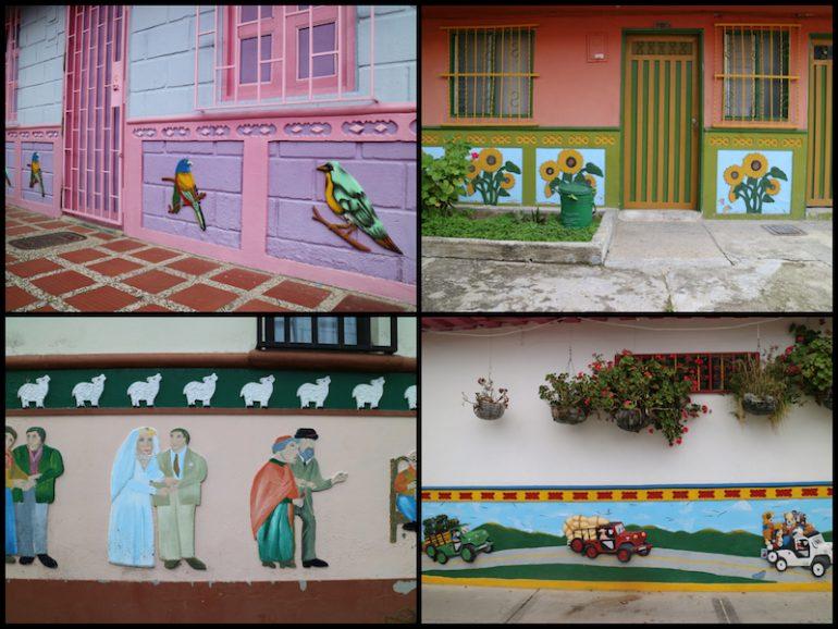 Bemalte Häuser in Guatape