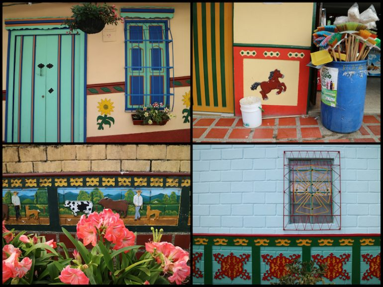 Bemalte Türen und Wände in Guatape