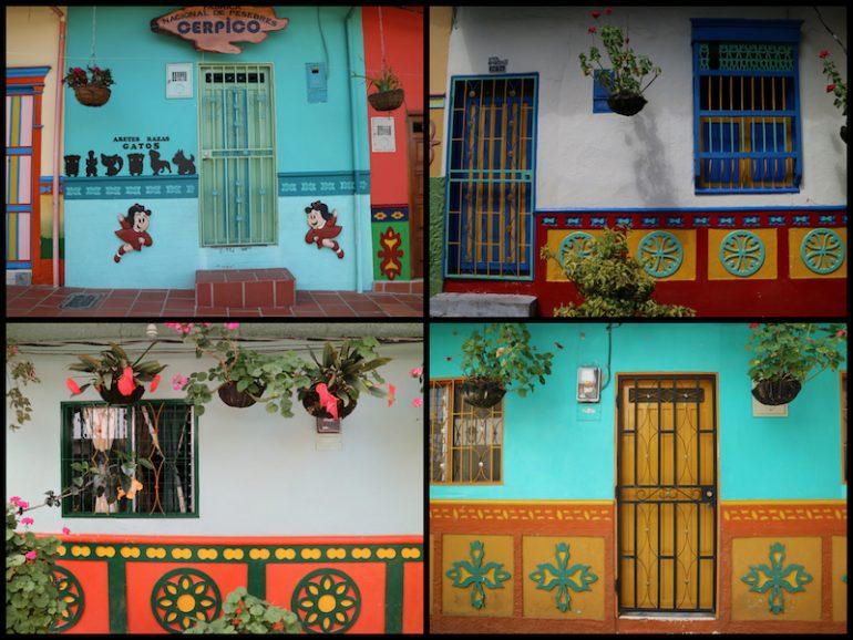 Unterschiedliche Fresken in Guatape