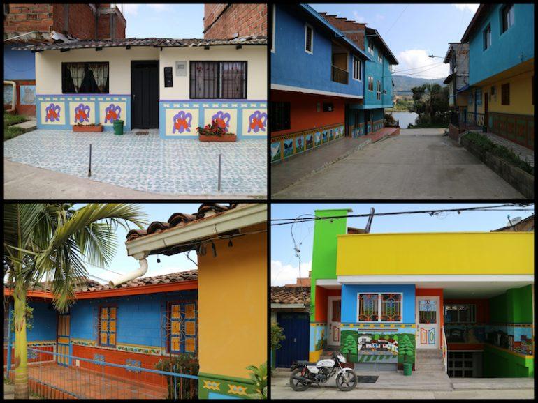 Bemalte Häuserwände in Guatape