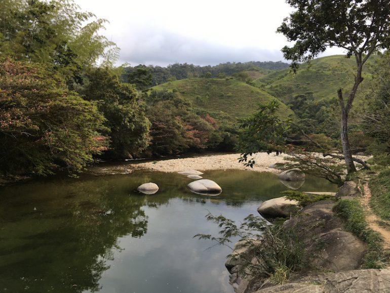 Der Fluss in San Rafael, nicht weit von Guatapé