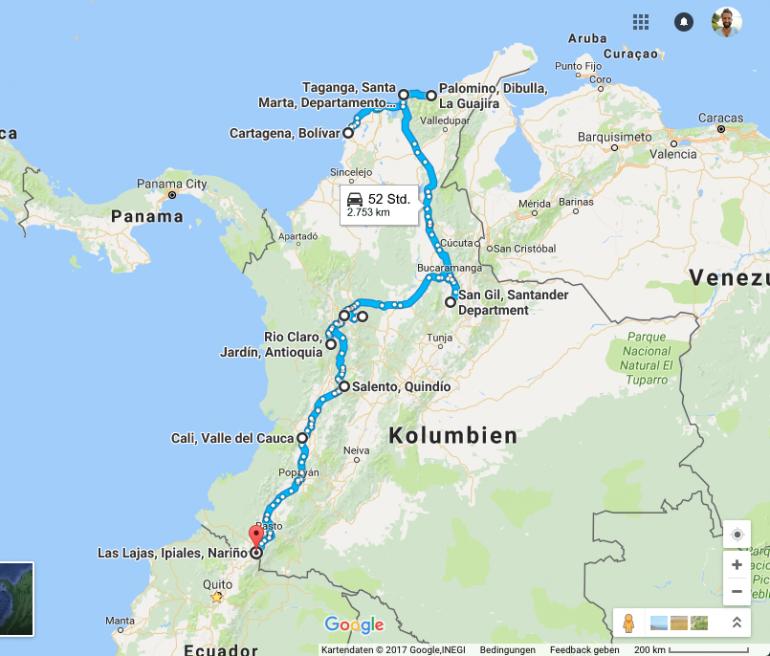 Kolumbien Reisetipps: Meine Route durch Kolumbien