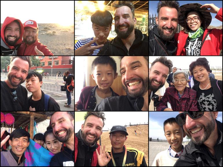 Innere Mongolei: Selfies mit verschiedenen Einheimischen