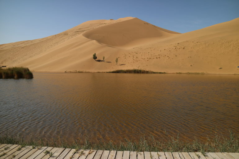 Innere Mongolei: See in der Wüste Badain Jaran