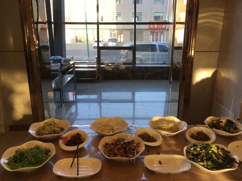 Frühstücksbuffet in der Inneren Mongolei