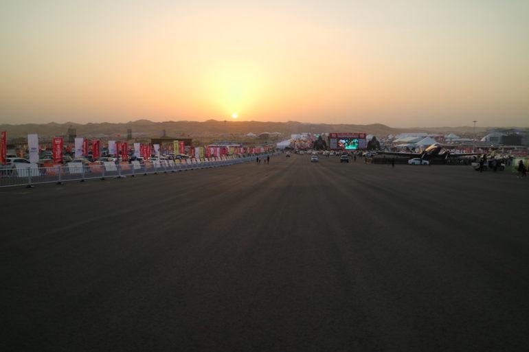 Das Gelände des FB Life Festival kurz vor Sonnenuntergang