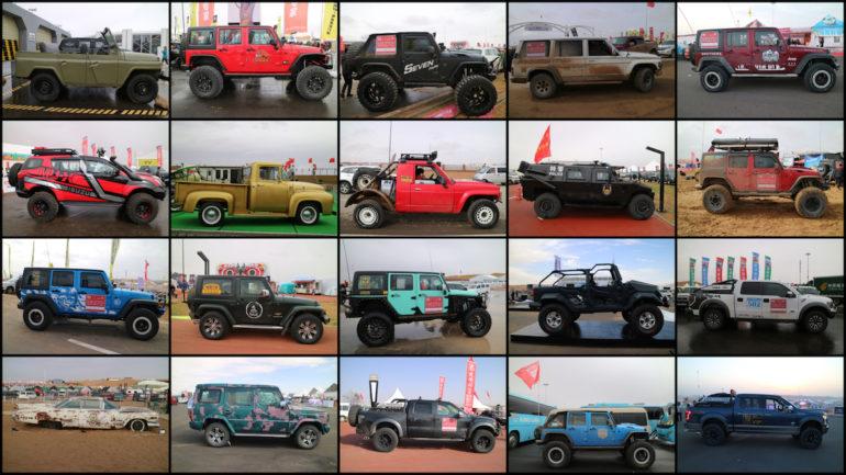 FB Live Festival: Auswahl an Geländewagen auf dem Gelände