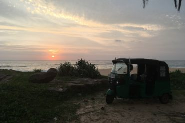 Sonnenuntergang Tuk Tuk Tournament Sri Lanka