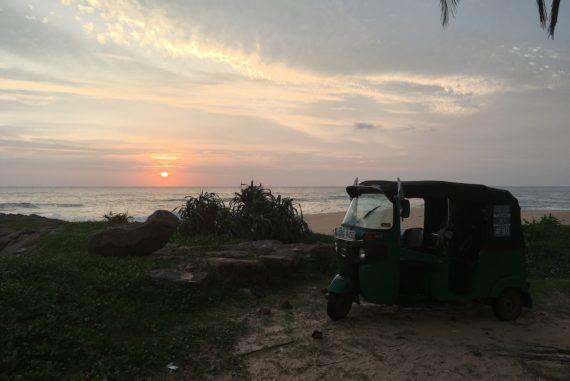 Sonnenuntergang Tuk Tuk Tournament Sri Lanka