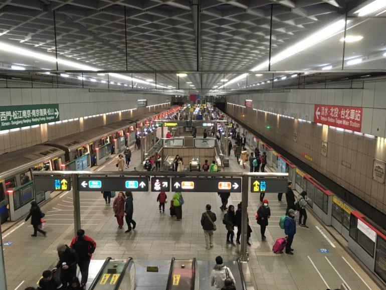 Öffentlicher Nahverkehr in Taipei.