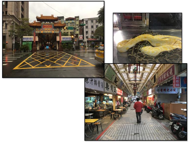Taipei Sehenswürdigkeiten: Huaxi Street Night Market aka Snake Alley