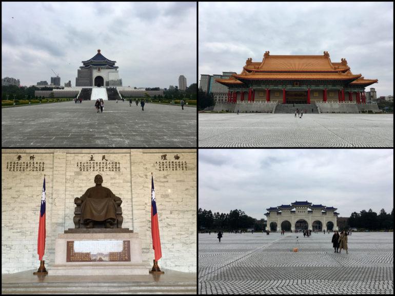 Chiang-Kai-Shek-Gedächtnishalle außen und innen