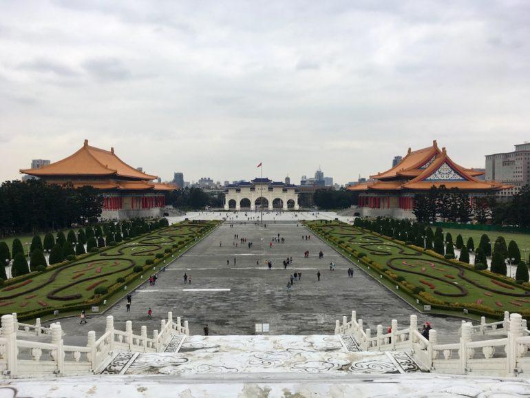 Taipei Sehenswürdigkeiten: Ausblick von der Chiang-Kai-Shek-Gedächtnishalle
