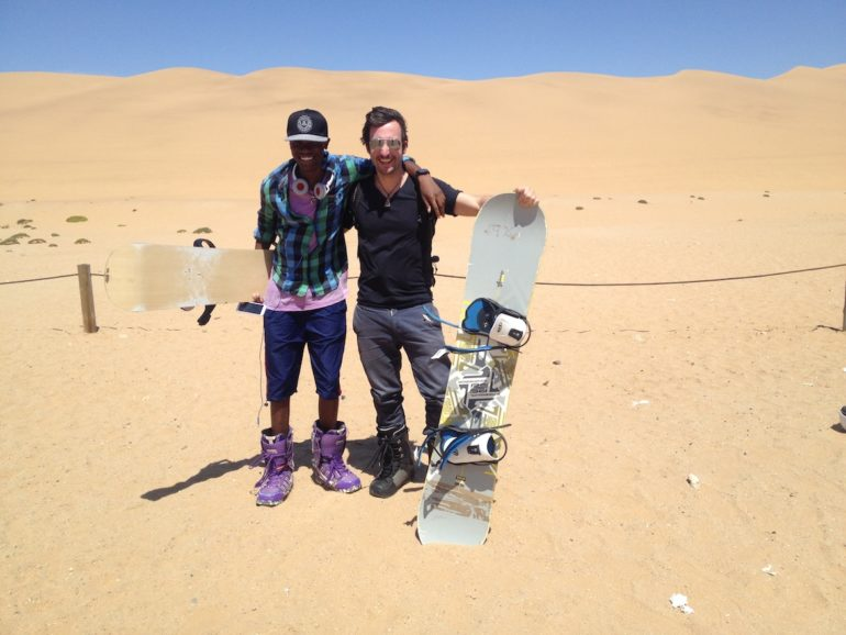 Adventures in Namibia: Sandboarding in the Namib desert