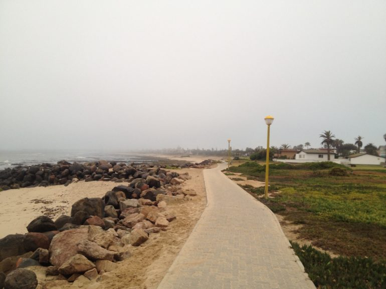 Adventures in Namibia: Beach in Swakopmund, Namibia