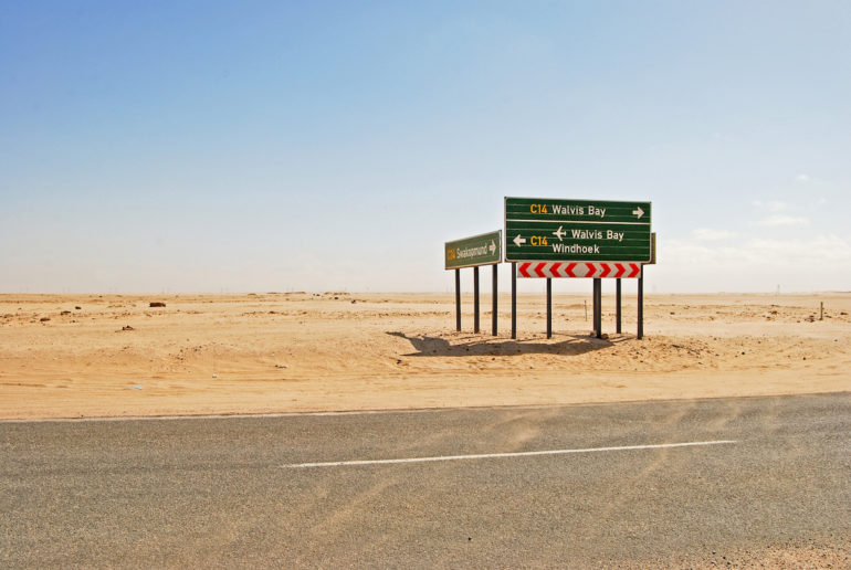 Adventures in Namibia - road to Swakopmund