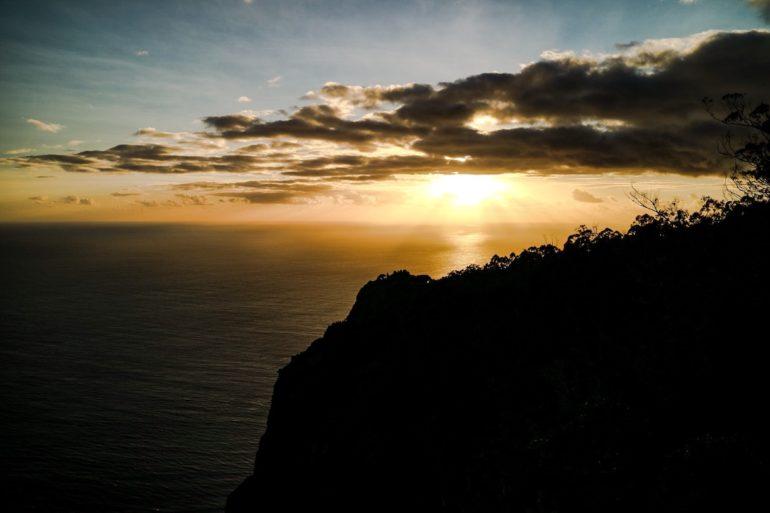 Madeira Sehenswürdigkeiten - Cabo Girao - Sonnenuntergang