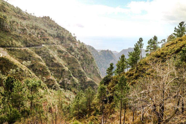 Madeira Sehenswürdigkeiten - Eira do Serrado - Serpentinen nach oben