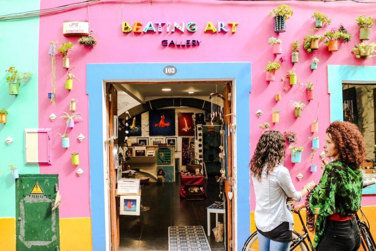 Madeira Sehenswürdigkeiten - Funchal Kunst in der Strasse
