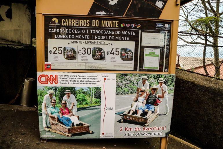 Madeira Sehenswürdigkeiten - Korbschlitten - Tradition auf Madeira