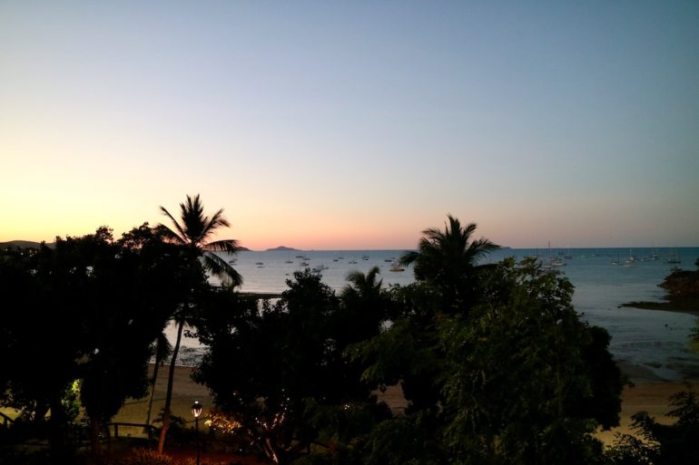 Whitsundays: Sonnenuntergang in Airlie Beach