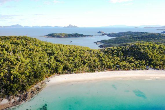 Whitsundays: Luftaufnahme von Whitehaven Beach