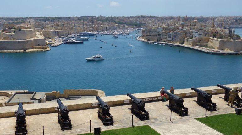 Unbekannte Reiseziele: Blick von den Upper Barraka Gardens, Valletta, Malta