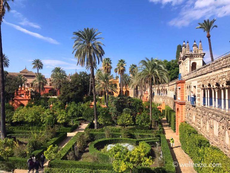 Unbekannte Reiseziele: Palast Real Alcazar in Sevilla