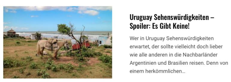 Uruguay Sehenswürdigkeiten