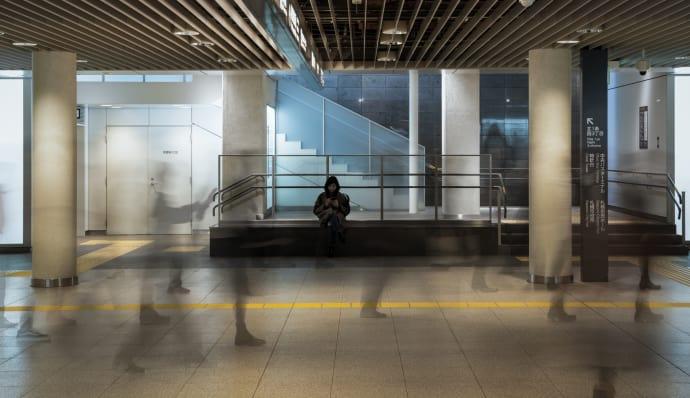 Menschen im Chikagai von Sapporo