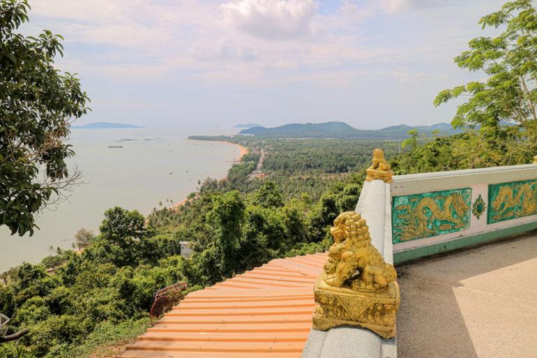 Ausblick über die Region Chumphon vom Khao Matsee Viewpoint