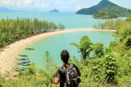 Marco Buch beim Ausblick auf Koh Kam Tok