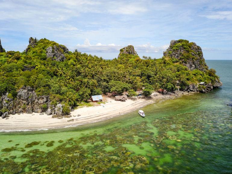 Luftbild von Lung Ga Jiw Island