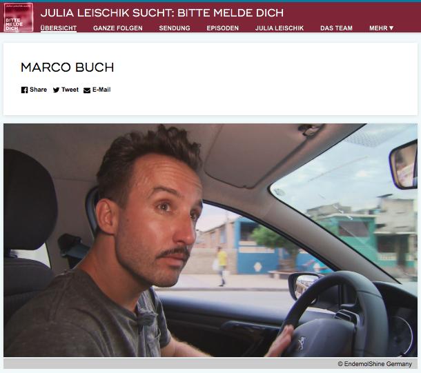 Marco Buch im Auto bei einer Recherche auf Kuba