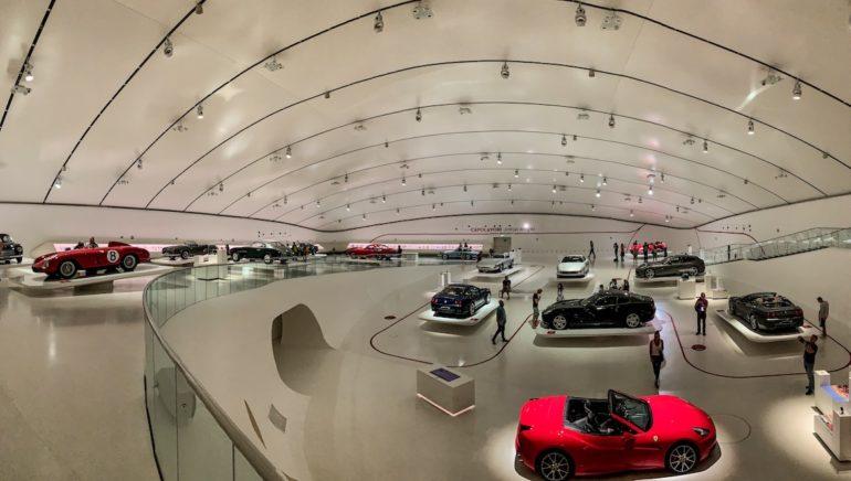 Blick ins Ferrari Museum Modena