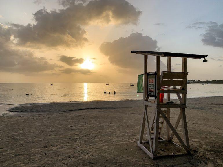 Jamaika Urlaub: Sonnenuntergang in Bloody Bay