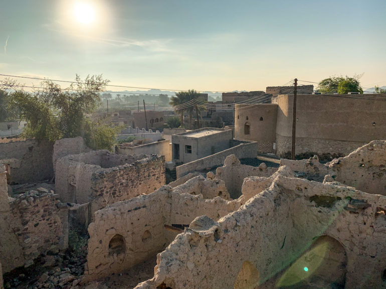 Ruinen in Ibra auf einem Oman Roadtrip