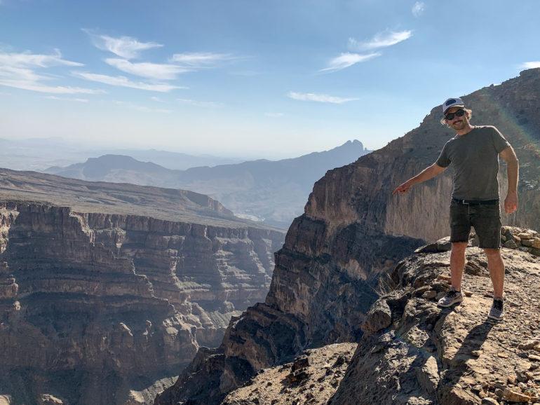 Marco Buch auf dem Jebel Shams im Oman