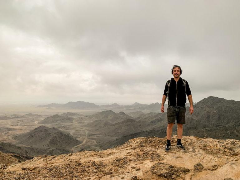 Marco Buch auf dem Jebel Humr in Oman