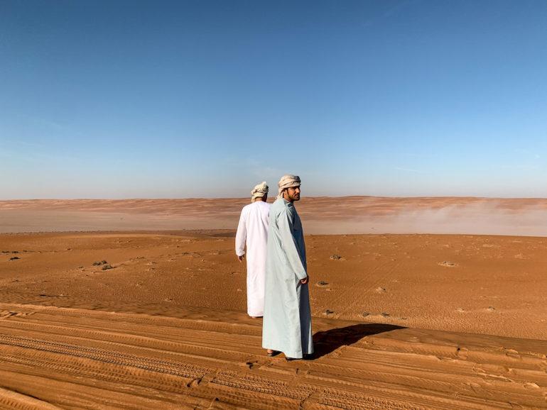 Omanische Männer in traditioneller Kleidung
