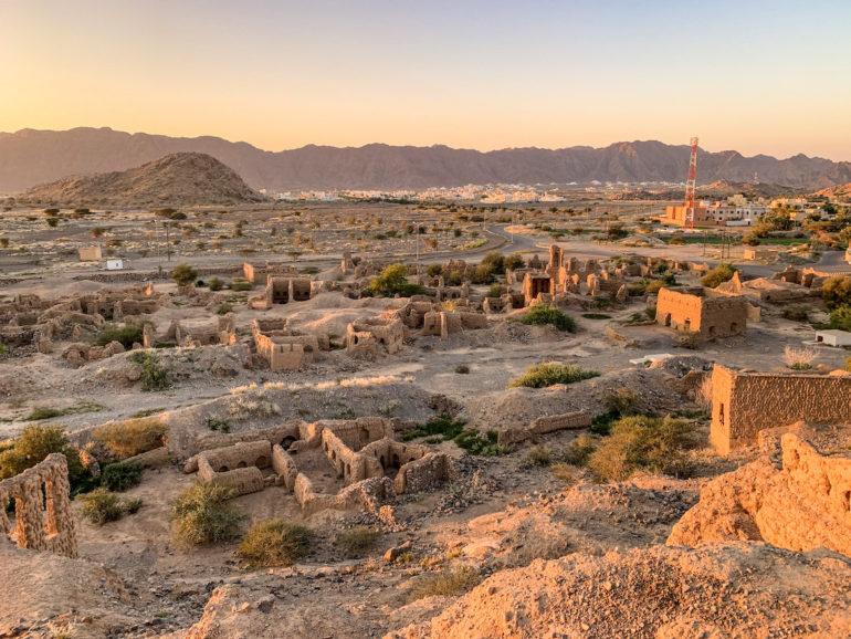 Ruinen in Tanuf Oman