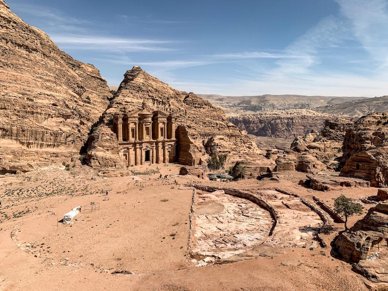 Kloster auf dem Berg in Petra