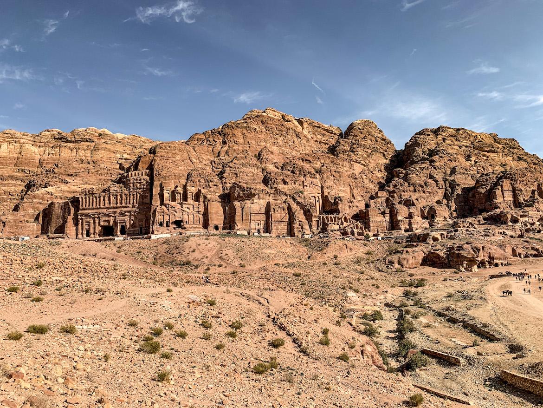 Felsengebäude in Petra